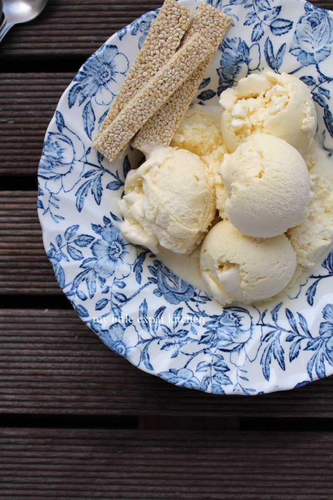 My Little Expat Kitchen_honey-milk ice cream with pasteli