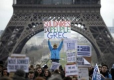 Photos from world demonstrations in solidarity to Greece, February 11 #mazi