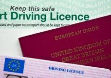 British driving license