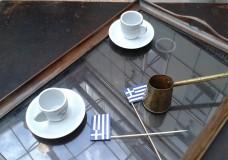 A Greek coffee shop in Brussels